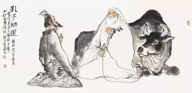 孔子向老子问道图